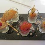 Assortiment de sorbets en dessert