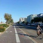 rimini's riviera. bikes lane