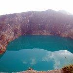 Turquoise greenish lake