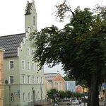 Hotel Zum Kellermann at the main square of Grafenau (the blue building)