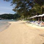 spiaggia di fronte il resort