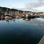 Tarbert harbour from just outside the Anchor Hotel