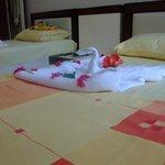 Спальня с раздельными кроватями