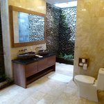 Beautiful big indoor/outdoor bathroom