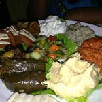 Vegetarian platter. Much larger than it appears in the photo.
