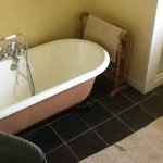 good hot shower + victorian bath - and double sinks too so you can wash in tandem