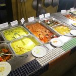 Selection of dishes served in a buffet style