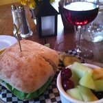burger and local wine