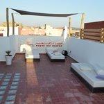 terrasse de l'hôtel