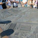 Mapa de Sachsenhausen, en la entrada del recinto