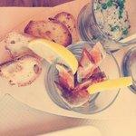 foie de lotte et tartare de sardines