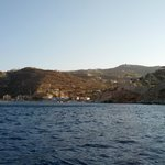 Вид с моря на виллу