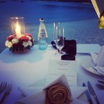 candle light dinner at the beach