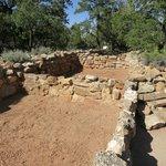 Excavated pueblo rooms at Tusayan Ruin