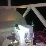 cena sui divanetti a bordo lago!