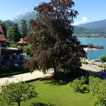 View from our bedroom over Lake Annecy