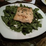 $28 spinach and salmon salad