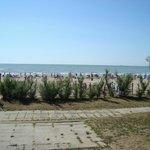 Spiaggia dal parco giochi