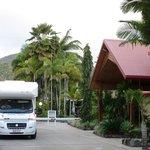 Einfahrt zum Caravanpark