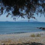 Il mare dalla spiaggia