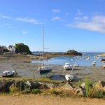 du restaurant, vue sur le petit port de Loguivy