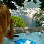 Vistas de Positano desde el comedor.