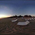 Panorama 360 gradi della spiaggia