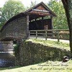 Humpback Bridge spans Dunlap Creek in Allegheny County, Va