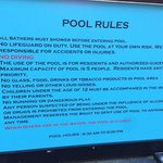 Pool rules at Padang Bai Beach Resort