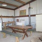 Self Help Steel Barn w/ working oven, refridgerator, washer & dryer
