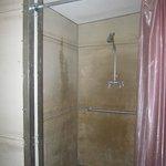 clean concrete showers