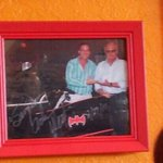 Batman and Robin now  view from our table