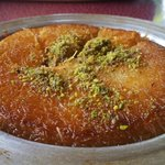 Kanafeh - an good desert with goat cheese; warning: a bit too sweet and takes 40 minutes to cook