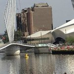 Swing bridge at Salford Quays
