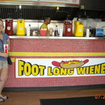 Donna at Grab-a-Weiner on Wildwood NJ Boardwalk