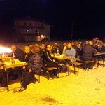 Cena all'aperto di saluto