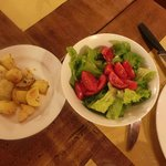potatoes and salad , side dish