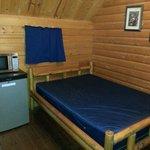 Main bedroom of Deluxe Cabin