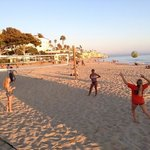 Volleyball just before sunset at Main Beach