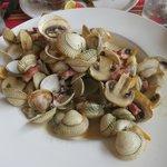 Coques au lard et champignons