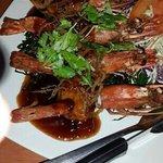 Deep fried tiger prawns in tamarind sauce