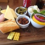 cheese and ham ploughmans