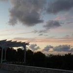 Post sunset poolside