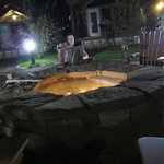 I could just about use the wifi at the fire pit