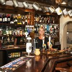 The beautiful Sam in the bar at The Raven
