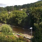 The view from our room, looking out towards the River Dee