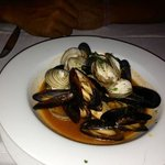 Mussels at the Italian restaurant