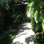 percorso tra i bungalow