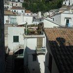 Vista dal balcone di una camera lato interno