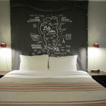 LOVE the bedding and headboard